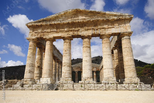 Classical Ancient Greek Segesta Temple in Sicily