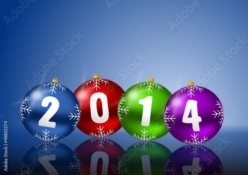 2014 new years vector illustration