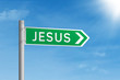 Road sign of Jesus