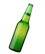 cold green beer bottle