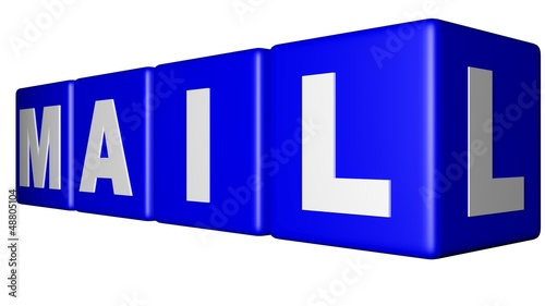 Mail blue cubes