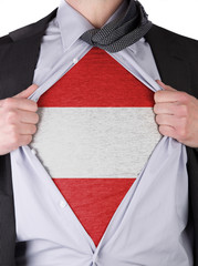 Business man with Austrian flag t-shirt