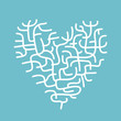 Heart made of corals, sketch for your design