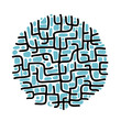 Abstract labyrinth shape for your design