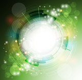 abstract eco green computer technology business banner backgroun
