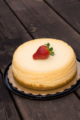 Cheescake with strawberries