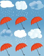 icon a weather and umbrella