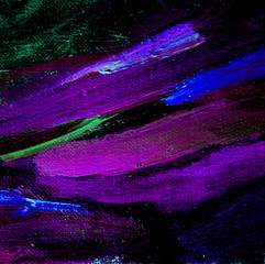 abstract painting with violet dabs oil on canvas,  illustration,