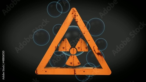 Animated Radioactive sign