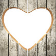 Heart shape from Wooden planks