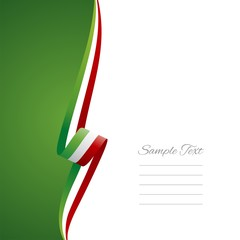 Hungarian left side brochure cover vector
