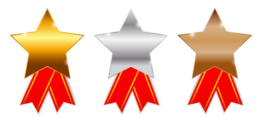 Golden, silver bronze awards. Vector illustration.