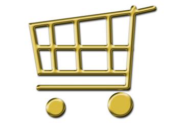 Einkaufswagen Gold