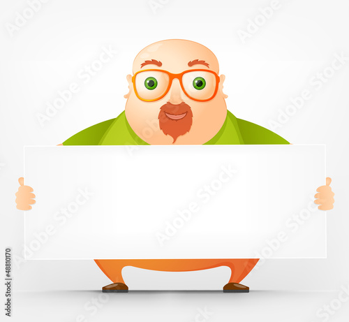 Cheerful Chubby Man