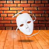white drama masks poster
