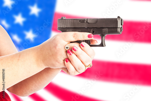 gun with flag