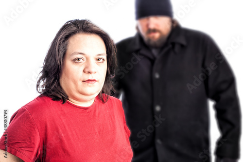 Woman being assaulted