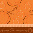 Hand drawn pumpkin Thanksgiving card in vector format.