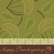 Hand drawn acorn Thanksgiving card in vector format.