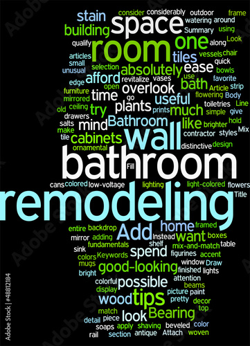 Bathroom remodeling tips Concept