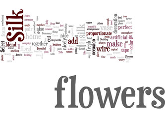 Beautiful Silk Flowers Concept