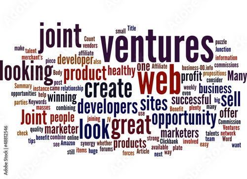 Benefit with Joint Ventures Concept