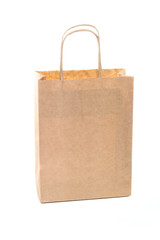 One brown paper shopping bag