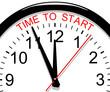 Clock. Time to start