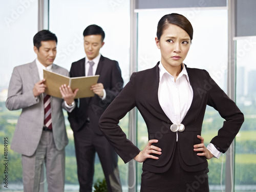 portrait of an angry asian businesswoman