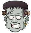 illustration of Cartoon zombie face