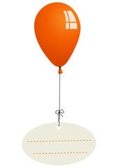 Nachricht mit Ballon