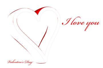 Carte pour la fête de la Saint Valentin