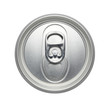 Top of an soda or beer can, can pull tab Realistic photo image