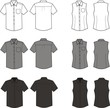Vector fashion illustration of business shirts