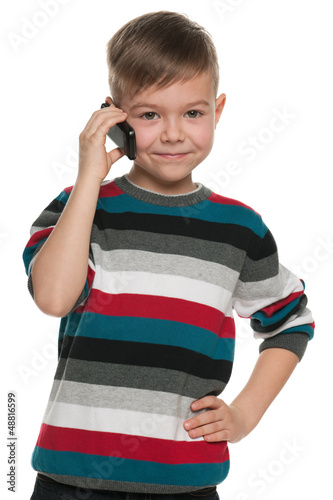 Boy with a cell phone