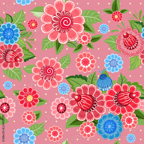 Flower texture seamless