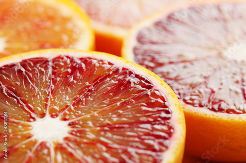 Blood orange close up © IngridHS