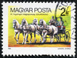 stamp printed by Hungary, shows Horse-Drawn Wagon