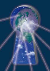 Schlüsselloch, Cloud, Computing, Globus