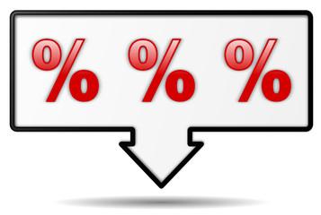 Schild Prozente