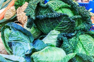 Frisches Gemüse – Wirsing und Spitzkohl
