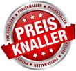 """Button Banner """"Preisknaller"""" rot/silber"""