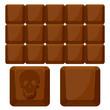 chocolate skull squares