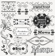 Calligraphic decorative elements for menu design