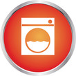 laundromat icon red white
