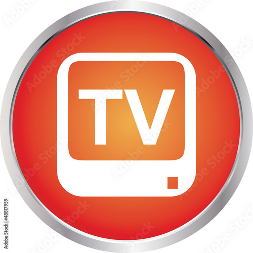 icon tv room red circle