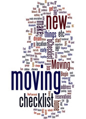 Checklist For Moving Concept