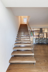 modern staircase, interior house