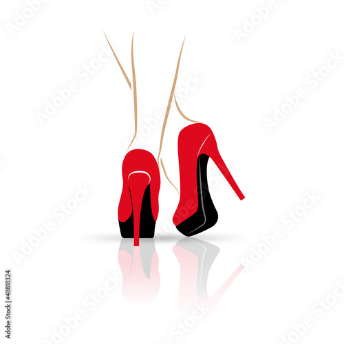 Logo sexy legs, high-heeled shoes # Vector