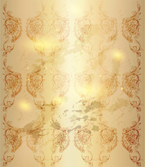 Wallpaper pattern in retro victorian style